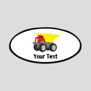 Personalizable Red Yellow Dump Truck Patch