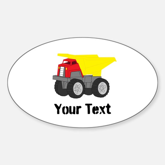 Personalizable Red Yellow Dump Truck Decal