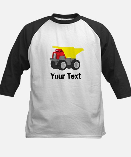 Personalizable Red Yellow Dump Truck Baseball Jers