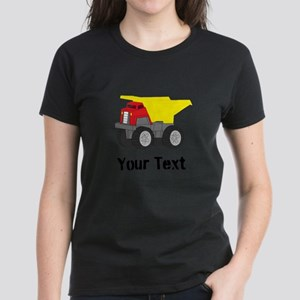 Personalizable Red Yellow Dump Truck T-Shirt