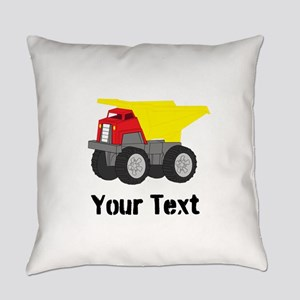 Personalizable Red Yellow Dump Truck Everyday Pill