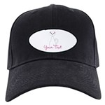 Personalizable White Cat Baseball Hat