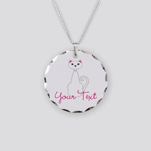 Personalizable White Cat Necklace