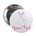 Personalizable White Cat 2.25
