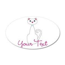 Personalizable White Cat Wall Decal