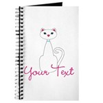 Personalizable White Cat Journal