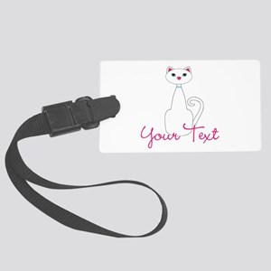 Personalizable White Cat Luggage Tag