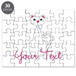 Personalizable White Cat Puzzle