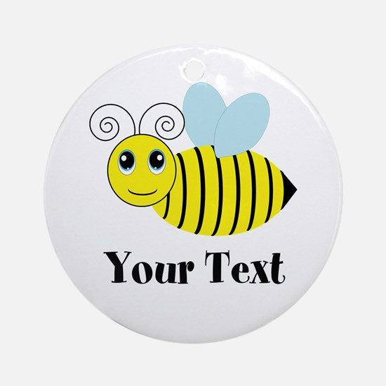Personalizable Honey Bee Round Ornament