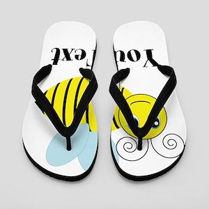 Personalizable Honey Bee Flip Flops