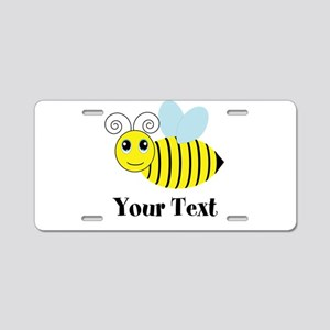 Personalizable Honey Bee Aluminum License Plate
