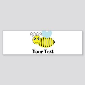 Personalizable Honey Bee Bumper Sticker