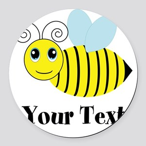 Personalizable Honey Bee Round Car Magnet