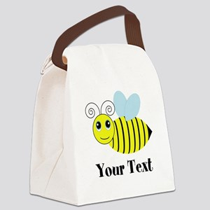 Personalizable Honey Bee Canvas Lunch Bag