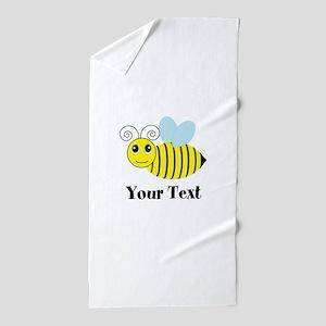 Personalizable Honey Bee Beach Towel