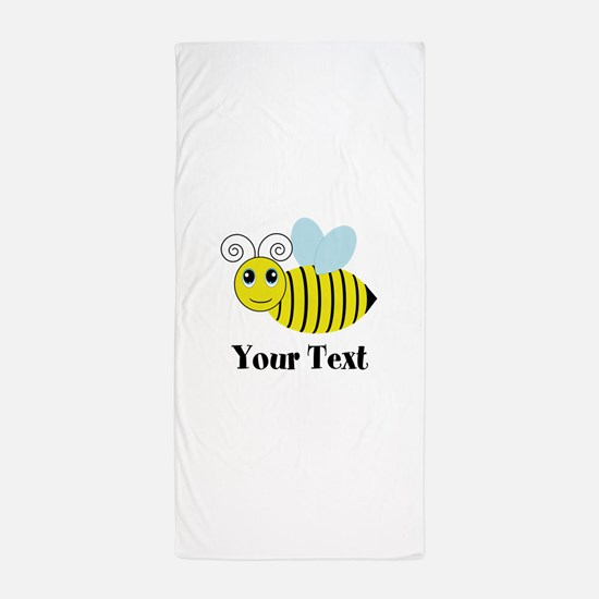 Personalizable Honey Bee Beach Towel