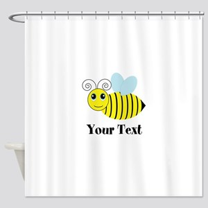 Personalizable Honey Bee Shower Curtain