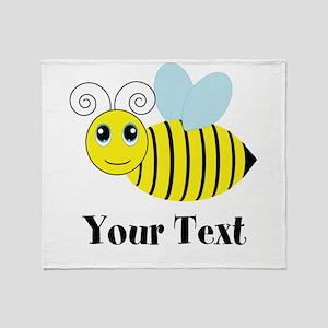 Personalizable Honey Bee Throw Blanket