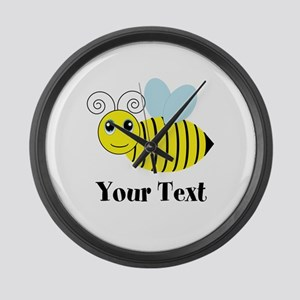 Personalizable Honey Bee Large Wall Clock