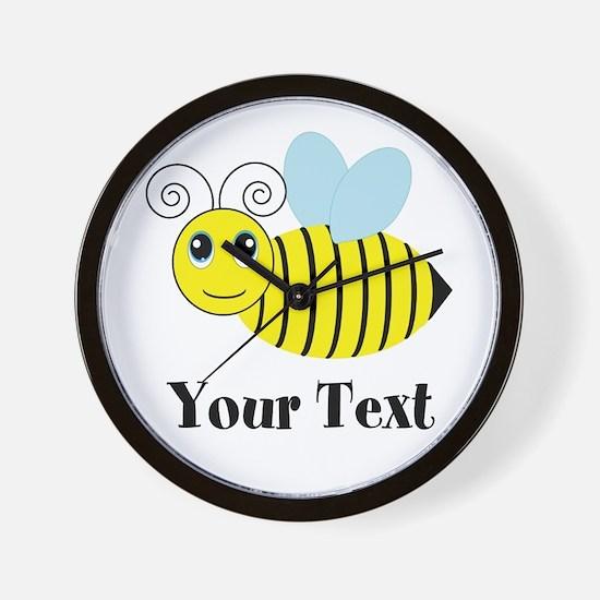 Personalizable Honey Bee Wall Clock