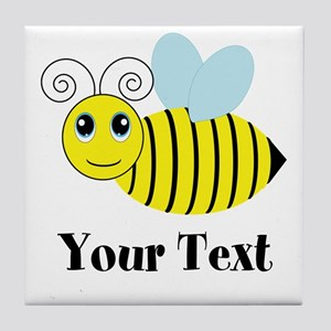 Personalizable Honey Bee Tile Coaster
