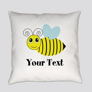 Personalizable Honey Bee Everyday Pillow
