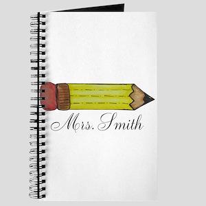 Personalizable Teachers Pencil Journal