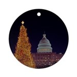 Capitol Christmas Tree Round Ornament