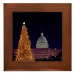 Capitol Christmas Tree Framed Tile