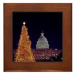 Capitol Christmas Tree Framed Tile