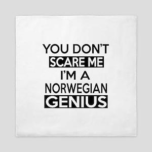 You Do Not Scare Me I Am Norwegian Gen Queen Duvet