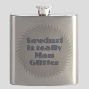 Sawdust is Man Glitter Flask