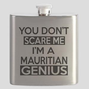 You Do Not Scare Me I Am Mauritian Genius Flask