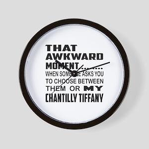 That awkward moment.... Chantilly Tiffa Wall Clock
