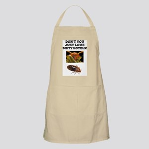 BED BUGS - DIRTY HOTELS - CHECK THE ROOMS! Apron