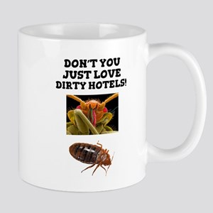 BED BUGS - DIRTY HOTELS - CHECK THE ROOMS! Mugs