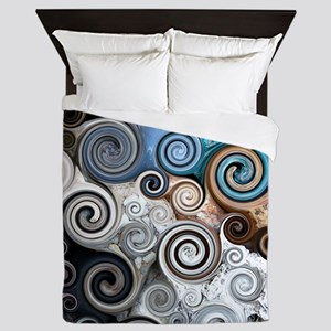 Rock Swirls Queen Duvet