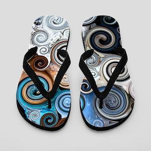 Abstract Rock Swirls Flip Flops