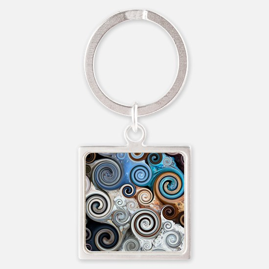 Abstract Rock Swirls Keychains