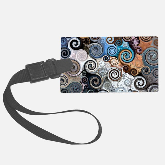 Abstract Rock Swirls Luggage Tag