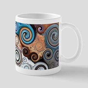 Abstract Rock Swirls Mugs