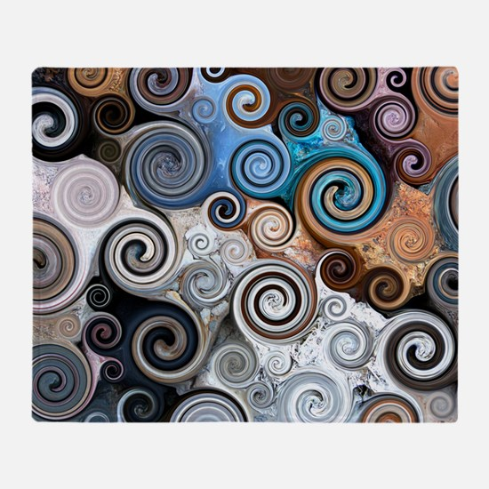 Abstract Rock Swirls Throw Blanket