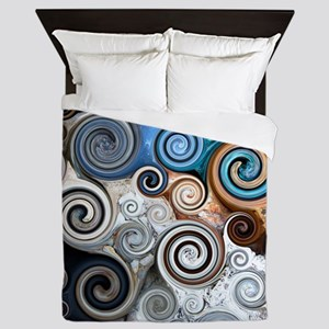 Abstract Rock Swirls Queen Duvet