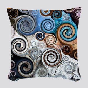Abstract Rock Swirls Woven Throw Pillow