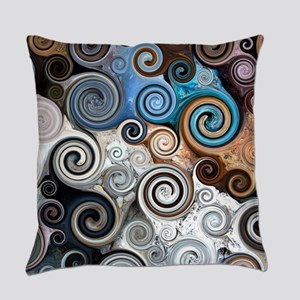 Abstract Rock Swirls Everyday Pillow