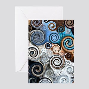 Abstract Rock Swirls Greeting Card
