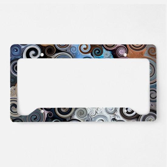 Abstract Rock Swirls License Plate Holder