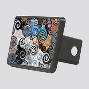 Abstract Rock Swirls Hitch Cover