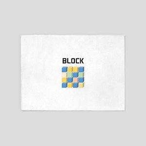 BLOCK 5'x7'Area Rug