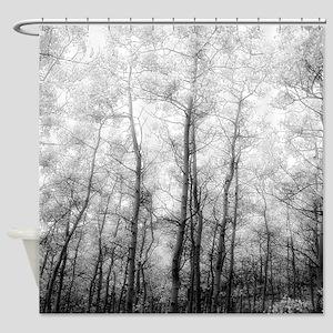Aspen Tree Shower Curtains Cafepress